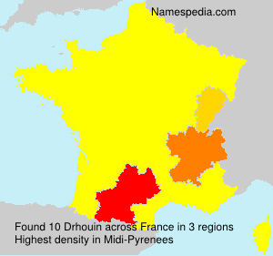 Surname Drhouin in France