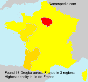 Surname Drogba in France