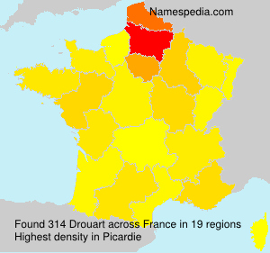 Surname Drouart in France