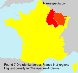 Surname Drozdenko in France