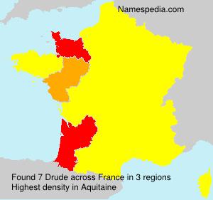 Familiennamen Drude - France