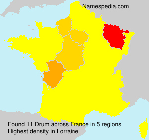 Surname Drum in France