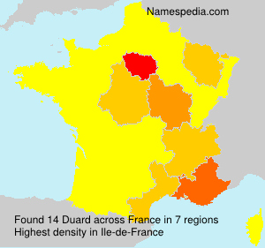 Surname Duard in France