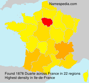 Surname Duarte in France