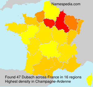 Surname Dubach in France