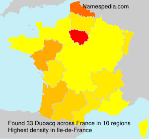 Surname Dubacq in France