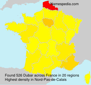 Surname Dubar in France