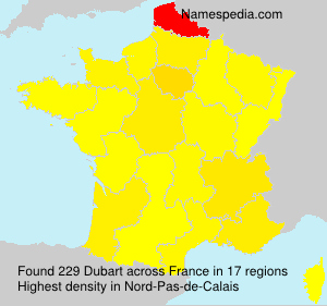 Surname Dubart in France