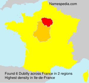 Surname Dubilly in France