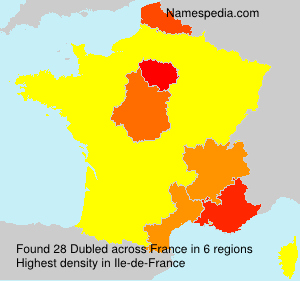 Surname Dubled in France