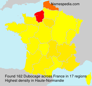 Surname Dubocage in France