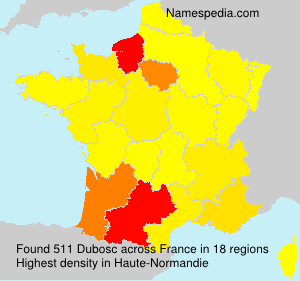 Surname Dubosc in France