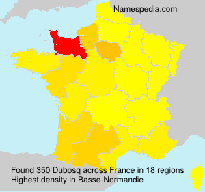 Surname Dubosq in France