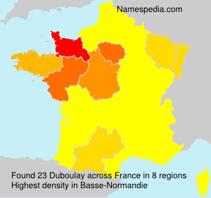 Surname Duboulay in France