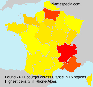 Surname Dubourget in France