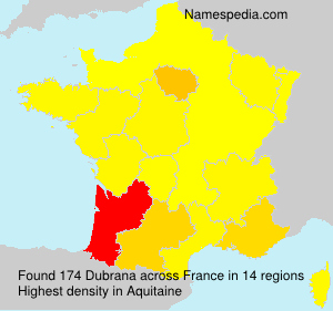 Surname Dubrana in France