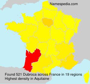 Surname Dubroca in France