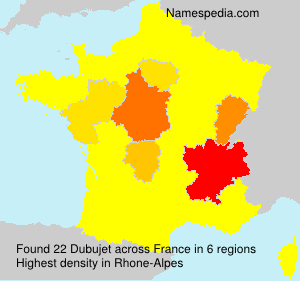 Surname Dubujet in France