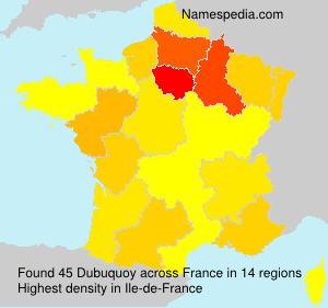 Surname Dubuquoy in France