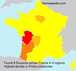 Surname Ducarois in France
