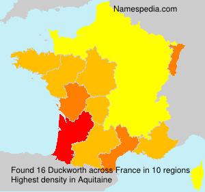 Familiennamen Duckworth - France