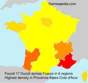 Surname Ducoli in France