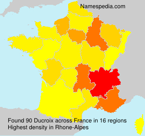 Surname Ducroix in France