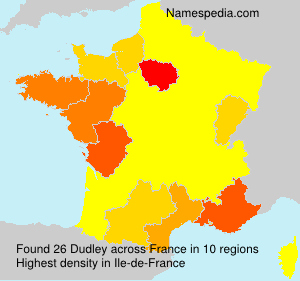 Surname Dudley in France