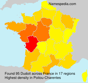 Surname Dudoit in France