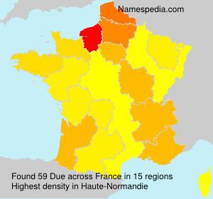 Familiennamen Due - France