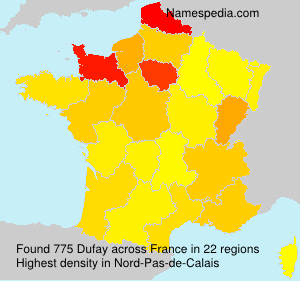 Surname Dufay in France