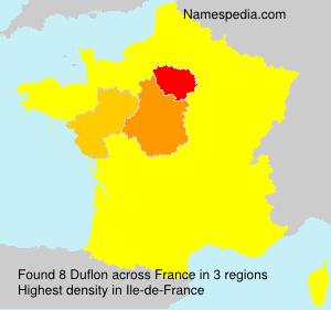 Surname Duflon in France
