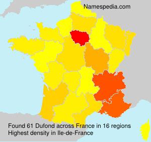 Familiennamen Dufond - France