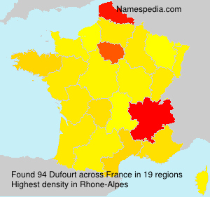 Surname Dufourt in France
