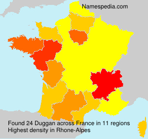 Surname Duggan in France