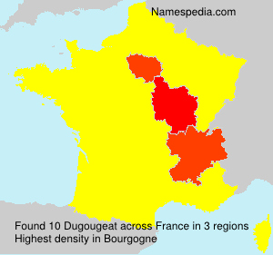 Surname Dugougeat in France