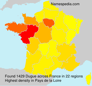 Surname Dugue in France