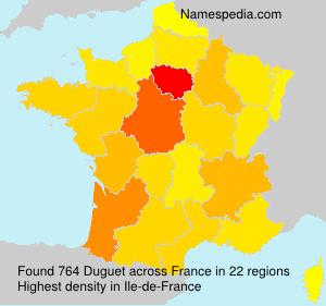 Surname Duguet in France