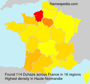 Surname Duhaze in France