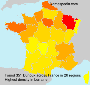 Surname Duhoux in France