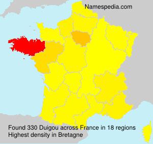 Surname Duigou in France