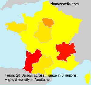Surname Dujean in France