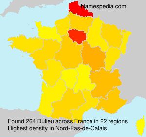 Surname Dulieu in France