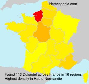 Surname Dulondel in France