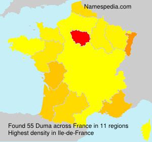 Surname Duma in France