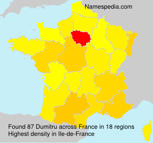 Familiennamen Dumitru - France