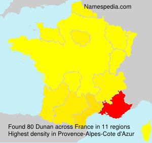 Surname Dunan in France