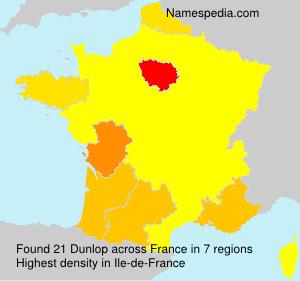 Surname Dunlop in France