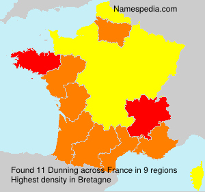 Surname Dunning in France