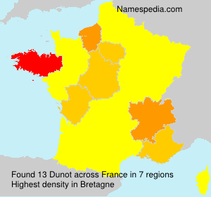 Surname Dunot in France